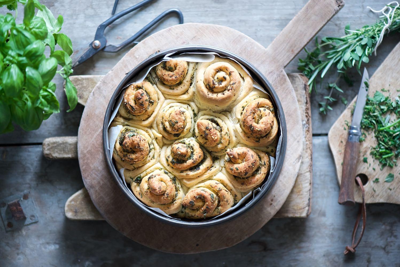 girelle di pane agli aromi dell'orto