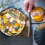 torta salata con zucca e taleggio